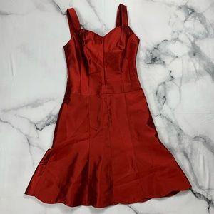 Taffeta red dress